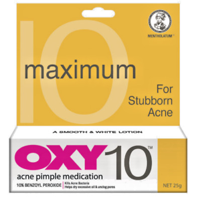 25g OXY10 Benzoyl Peroxide For Stubborn Acne Pimple Medication FREE SHIPPING • 14£