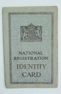 WWII National Registration IDENTITY CARD 1943 Middlesex London • 2£