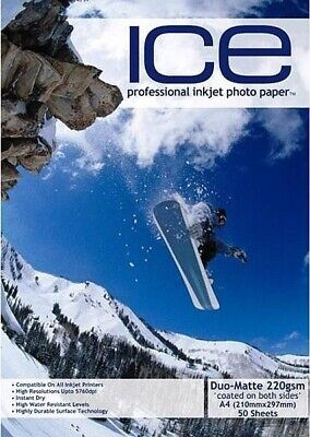 £4.25 • Buy ICE Matte Photo Paper, 220gsm Double Sided A4 - 50 Sheets