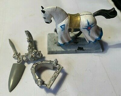 Silver Helm Champion.Metal Figure With Unicorn On His Helmet .Used VG + Horse • 5£