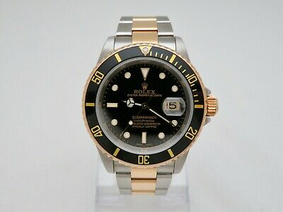 $ CDN12525.91 • Buy Rolex Submariner 16613 18K & Stainless Year 2000 Gold Through Clasp - Serviced