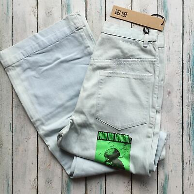AU60 • Buy NWT - Ksubi Light Wash 'Sky Python ' High Waist Mega Flare Jeans- Size 28