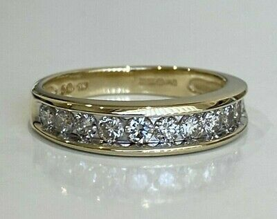 AU578 • Buy 9k Solid Gold & 0.50CT Diamond Eternity Band Ring 3.06g Size M -  6