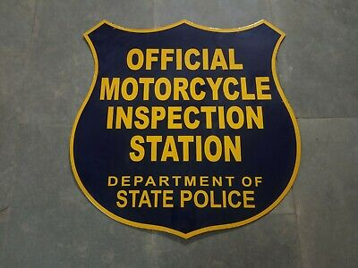 $ CDN58.69 • Buy Porcelain Official Motorcycle Inspection Enamel Sign Size 30  X 29  Inches