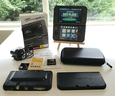 AU230 • Buy 'New' Nintendo 3DS XL Metallic Black Complete In Box CIB And Accessories