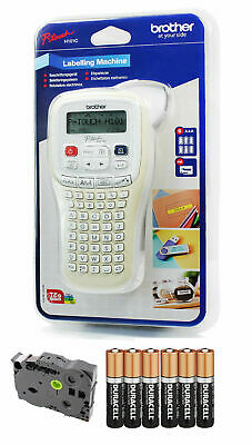 Brother Hand Held Label Maker Labelling Print Machine + Tape + Batteries H101C • 29.99£
