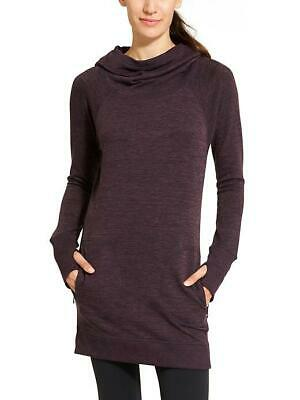 $ CDN61.63 • Buy ATHLETA Blissful Hoodie Sweatshirt Dress SP S SMALL PETITE Wild Raisin Heather