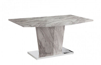 £399.99 • Buy Dining Kitchen Table Marble Effect Table Top With Stainless Steel Base