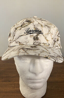 $ CDN114.82 • Buy Supreme Marble 6-panel White Os Hat Fw20 Week 18 (in Hand) Authentic,  Brand New