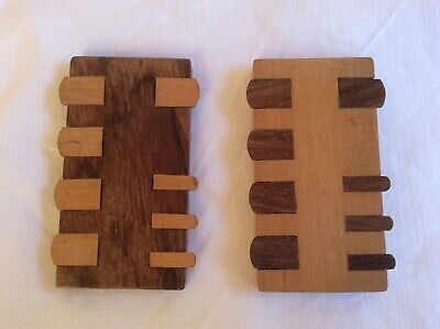 A Lovely Pair Of Bezique Polished Wooden Markers, Playing Card Score Markers • 20£