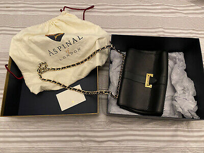 Aspinal Of London Bag Black Original Box And Receipt Barely Used. Large • 81£