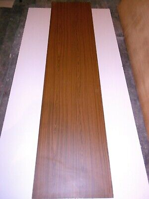 18mm LAMINATE FACED DARK WOOD EFFECT 2440mm X 585mm PLYWOOD SHEET - COLLECTION • 9.99£