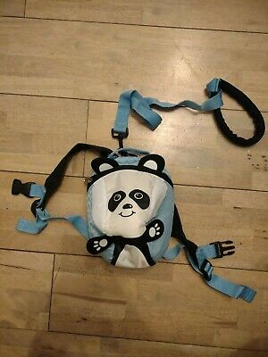 Aldi Toddler Blue Panda Backpack With Detachable Reins • 1.49£