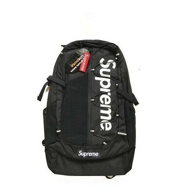 $ CDN1.26 • Buy Hot NEW Supreme 17ss Backpack Waterproof Box Logo Mountaineering Bags Travel