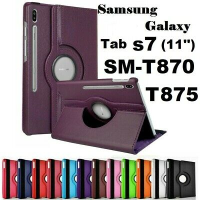 360 Rotating Stand Case Cover For Samsung Galaxy Tab S7 11'' SM-T870 & T875 • 9.98£