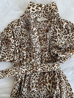AU300 • Buy Zimmerman Leopard Print Shirt Dress, Size 3. Perfect Condition.