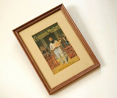 W G Grace, Coleman's Mustard Advert, Framed And Glazed 9  X 7  Good Dad Present • 9.99£