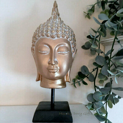 Free-standing Gold Thai Buddha Head Ornament Statue Figure Figurine Sculpture • 15.95£