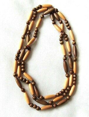 Long Wood Bead Necklace • 1.50£