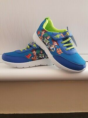 £7.99 • Buy NEW Kids Boys Licensed Blue Green TOY STORY 4 Easy On Shoes Trainers UK 9 -13