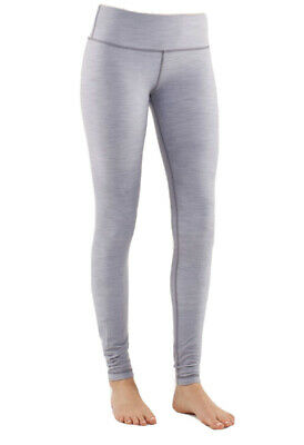 $ CDN65 • Buy LULULEMON ATHLETICA Heathered Silver Spoon WUNDER UNDER PANTS/ Tights 6 SMALL