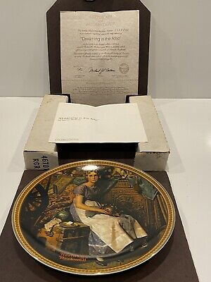 $ CDN31.88 • Buy 1982 Norman Rockwell  Dreaming In The Attic  Knowles China Plate - COA With Box
