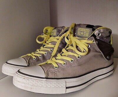 Converse All Star Shoes Limited Padded Electric Yellow & Gray Camo Camouflage • 19.10£