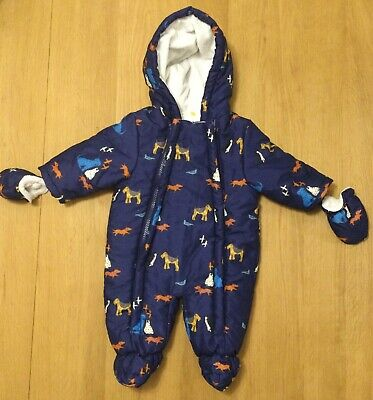 Dogs Pramsuit 0-3 Months By John Lewis • 6.50£