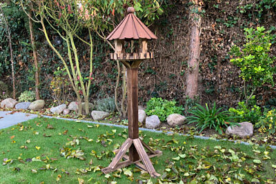 £74.99 • Buy Kirby Bird Table | Garden Feeding Wooden Traditional Dovecote Standing House UK