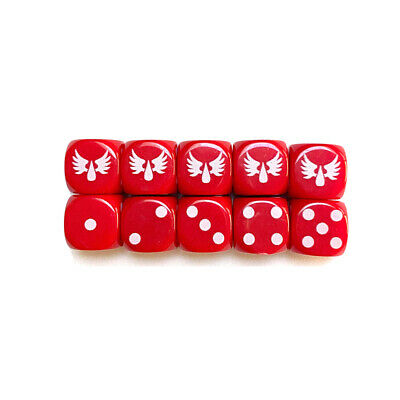 AU13.99 • Buy BLOOD ANGELS DICE X 10 D6 Red Die 16mm Tabletop Games Warhammer 40K