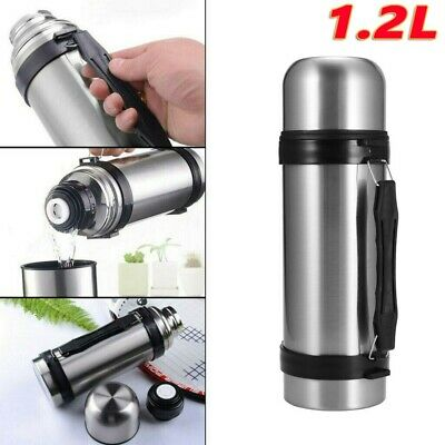 £10.98 • Buy Large Thermos Flask 1.2L Stainless Steel Unbreakable Vacuum Handle Drinks Silver