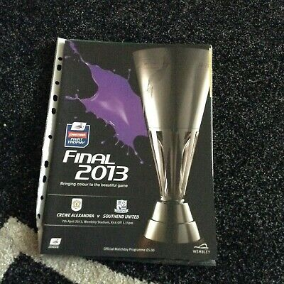 Crewe Alexandra V Southend United 7/4/13 Johnstones Paint Trophy • 3£