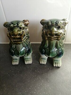 Pair Of Chinese Foo Dogs • 11.99£