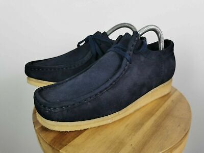 £74.99 • Buy Clarks Originals Toast Navy Wallabees Suede Leather Shoes