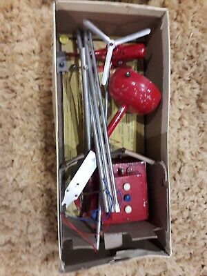 Rare Tin Vintage 1950's Toy Helicopter Nullis Secundus Remote Control • 40£