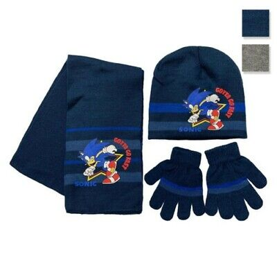 Set Hat, Gloves And Scarf Winter Sonic Baseball Cap Child 3397 • 39.83£