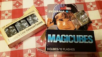 $3.99 • Buy 3 Sylvania Blue Dot Magic Cubes Flash Bulbs - Plus 3 Westinghouse Balanced Cubes
