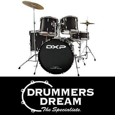 AU599 • Buy DXP Pioneer Series 5 Piece ROCK Drum Kit Set With Hardware And Cymbals - Black