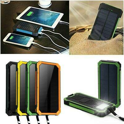 AU17.49 • Buy Waterproof Solar Power Bank 2USB 100000mAh Battery Portable Charger For Mobile