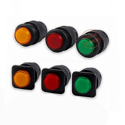 16mm Push Button Switch Maintained Momentary 250V 3A LED Illuminated 1NO 1ON OFF • 2.81£