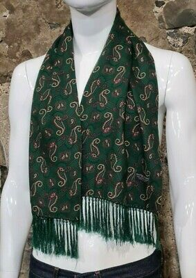 Vintage Mens Tootal Scarf Paisley Mod Scooter Ascot Goodwood Green 60s 70s   348 • 34.99£