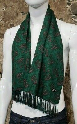Vintage Mens Tootal Scarf Paisley Mod Scooter Ascot Goodwood Green 60s 70s   296 • 34.99£