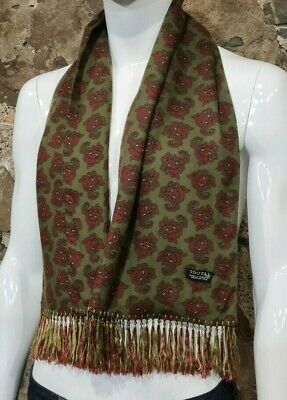 Vintage Mens Tootal Scarf Paisley Mod Scooter Ascot Goodwood Green 60s 70s   119 • 34.99£