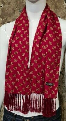 Vintage Mens Tootal Scarf Paisley Mod Scooter Ascot Goodwood Red 60s 70s      90 • 34.99£