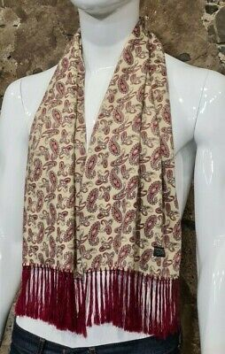Vintage Mens Tootal Scarf Paisley Mod Scooter Ascot Goodwood Yellow 60s 70s   50 • 34.99£