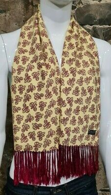 Vintage Mens Tootal Scarf Paisley Mod Scooter Ascot Goodwood Yellow 60s 70s  188 • 34.99£