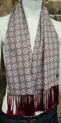 Vintage Mens Tootal Scarf Paisley Mod Scooter Ascot Goodwood Red Grey 60s 70s 84 • 34.99£