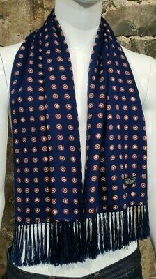 Vintage Mens Tootal Scarf Paisley Mod Scooter Ascot Goodwood Blue 60s 70s    105 • 34.99£