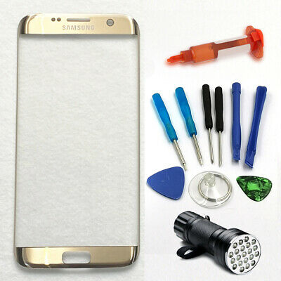 $ CDN25.46 • Buy For Samsung Galaxy S6 Edge Gold Outer Screen Front Glass Replacement Tools Kits