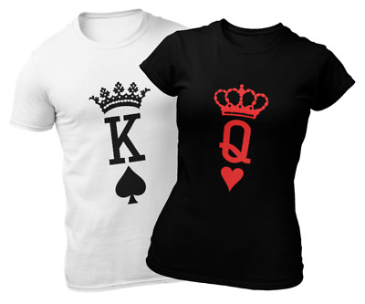 £10.99 • Buy KING OF SPADES & QUEEN OF HEARTS Matching Shirts   Anniversary Valentine